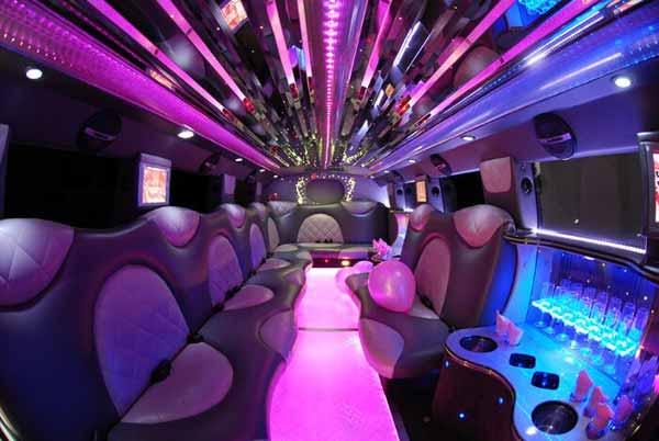 Cadillac Escalade limo interior jacksonville